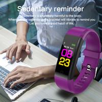 도매 ID115 PLUS 컬러 스크린 스마트 팔찌 스포츠 보수계 시계 휘트니스 워킹 워킹 추적기 심박수 보수계 스마트 밴드