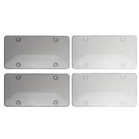 2 pçs / lote Clear Licença Capa Quadro Bug Shield Protetor Plástico para US Car Tag Rápido Frete Grátis
