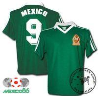 O envio gratuito de 1986 México casa retro camisas Hugo Sánchez Francisco Javier Cruz Raúl Servín camisa velha
