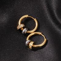 رجل الهيب هوب هوب أقراط مجوهرات إمرأة مطلية بالذهب قرط خمر مع الماس
