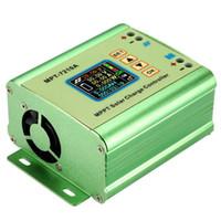 Freeshipping Mppt Панель солнечных батарей Регулятор заряда контроллера с цветным ЖК-дисплеем 24/36/48/60 / 72V 10A с повышением Dc-Dc