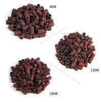"1000pcs/lot 80''/120''/180"" Nail Art Sanding Bands File For UV Gel Acrylic Polish Remover For Electric Nail Machine Nail Drill Bits"
