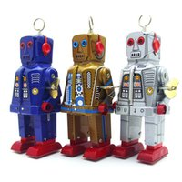 NB Cartoon Weißblech Retro Wind-up Wütend Roboter, Uhrwerk Spielzeug, Augen Funken, Nostalgische Ornament, Kind Geburtstag Weihnachtsgeschenk, Sammeln, MS403, 2-1