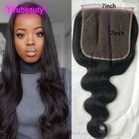 Indian Raw Virgin Hair 7X7 Lace Closure Body Wave 8- 26inch 1...