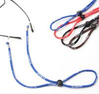 10pcs Qualidade óculos barato Atacado ajustáveis desportivo óculos corda do pescoço realizadas óculos cinta cordão muti-cor corda 60 centímetros freeshipping