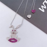 TIF 925 sterling silver necklace, creative fashion temperame...