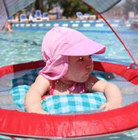 패션 여름 필수품 UPF50 + 여름 신생아 유니섹스 베이비 키즈 일 모자 면화 양동이 모자 자외선 보호