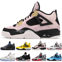 Newest Bred 4 4s Mens Basketball Shoes What The Mushroom Las...