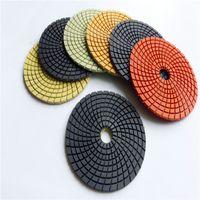 10 Peças 6 Polegada D150mm Almofadas Abrasivas para Pedra De Mármore De Granito 7 Passos de Diamante Almofadas de Polimento Molhado Flexível para Rebarbadora