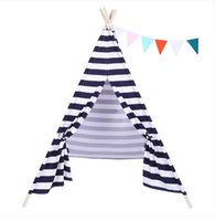 Wholesales Free shipping Hot sales Indian Tent Children Teepee Tent Baby Indoor Dollhouse with Small Coloured Flag