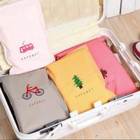 PINMOO الأزياء الأمتعة تنظيم المرأة حقيبة السفر الملابس الداخلية / الملابس الغبار حقيبة تخزين للماء أكياس بلاستيكية