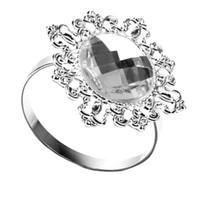 12 Pieces Guardanapo anéis de guardanapo casamento Titular Banquet Decor Jantar de prata anéis de guardanapo Eco-Friendly