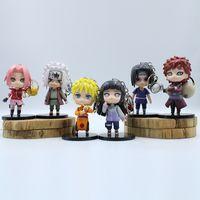 6pcs 9.5cm Anime Naruto trousseau Toy Sasuke Kakashi Sakura Gaara Itachi Obito Madara Killer Bee Mini modèle Doll pour les enfants