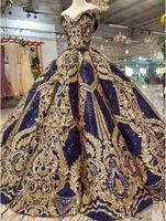Vestido de bola de lentejuelas de lentejuelas de lujo Vestidos de quinceanera vestidos de encaje Vestido de fiesta apliqueado Sweetheart Sparkle Sweet 16 Vestidos de 15 Años