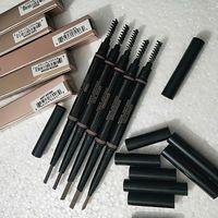 HOT MAKEUP مزدوجة قلم الحواجب جبين PENCIL للتلوين EBONY SOFT BROWN DARK BROWN MEDIUM BROWN CHOCOLATE شحن مجاني