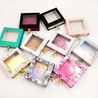 NOVO Hot grosso cristal e caixas Lidar com cílios postiços embalagem caixa Falso Mink Lashes Glitter caixa vazia