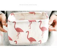 5 Stil INS flamingo Desktop Ablagekorb Nette Druck Wasserdichte Organizer Baumwolle Leinen Kleinigkeiten Aufbewahrungsbox Schrank Aufbewahrungstasche B