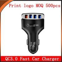 QC3.0 chargeur de voiture rapide chargeur avec 4 USB 5V 9V 12V 6.2A total samsung pour moto pour Xiaomi Tablet lg