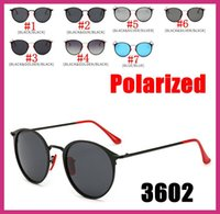 6d6ac651d904c 2019 Modern Vintage Round Metal Style Polarized Sunglasses Red Nose Pad  3602 fashion Designer Sun Glasses Oculos De Sol 5PCS Factory Price