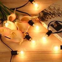 Chaîne De Noël Globe Ampoule Chaîne Lumière E12 G40 avec 25 Ampoules Vintage LED Cordes Lumières Suspendus Lampe Arrière-Cour Guirlande Partie De Mariage Décor