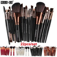 22 stücke Set Maange Professionelle Make-Up Pinsel Augenbrauen Lidschatten Make-Up Pinsel Set Powder Foundation Lips Augen Kosmetik pinsel Werkzeuge