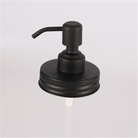 Schwarzer Einmachglas-Seifenspenderdeckel Rostfrei Flüssige Lotionspumpe mit kleinem Kopf aus Edelstahl 304 für Küchen- und Badezimmergläser nicht enthalten