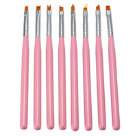 pink nylon fiber hair 8pcs set makeup Brush Set Polish Gradi...