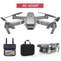 E68 4K Caméra HD WIFI FPV Mini Jouet de drone débutant, Simulateurs, Vol de la piste, Vitesse réglable, Hoison d'altitude, Gestes Photo Quadricopter, Cadeau enfant, UTILU
