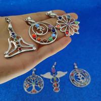 7 Yoga Chakra kolye 7 Chakra Healing Stones Pandantifle Yoga kolye Kadınlar Moda Takı Will ve Sandy takı için
