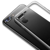 Temizle Silikon Yumuşak TPU Kılıfları iPhone 7 için 7 Artı 8Plus X XSMAX XR 12 Mini 12Pro Max Şeffaf Telefon Kılıfı