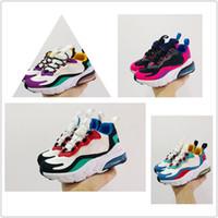nike air max 270 react kids 24-35 Ayakkabı Siyah Beyaz Hiper Parlak Mor Bebek Çocuk çocuklar eğitmenler Koşu Erkekler Kızlar Bauhaus TD Çocuk Ayakkabı Tepki