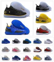 8dd14a126214 Compre Niños KD 11 Gold Splatter Championship Shoes Ventas Calientes ...