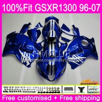 Injeção para a Suzuki Hayabusa GSXR1300 GSXR 1300 96 02 03 04 05 06 07 Fábrica azul 22HM.93 GSX R1300 2002 2003 2004 2005 2006 2007 Fairing
