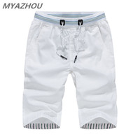 MYAZHOU 5XL Männer Sommer Casual Shorts 2019 Einfarbig Elastische Taille Mode Männer Shorts 100% Baumwolle Marke männer Kleidung Shorts