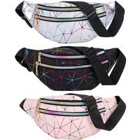 Nuevo Fannypack holográfico para mujeres Bumbag y Girls Bumbag Shiny Neon Laser Crossbody Riñonera Party Rave Bum bag Fanny Pack Envío de la gota