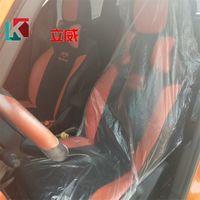 La silla del asiento seguro del automóvil Claro cubierta de plástico desechable contra salpicaduras de coches fuelles antipolvo Protección Auto Sillas Cubiertas Superventas 0 29kl E19