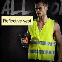 Yansıtıcı Çizgili Trafik Yelek Yüksek Görünürlük emniyet Vest İçin Sanitasyon İşçi Yardımcısı Polis Çalışma konfeksiyon 360pcs T1I1724