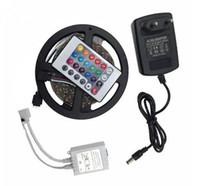 5M 300LEDS 비 방수 RGB LED 스트립 라이트 3528 DC12V 60LED / M 유연한 조명 문자열 리본 테이프 램프 가정 장식 램프