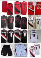898cff6f56f New Arrival. 2018 Men Trail #0 Lillard City Jerseys Embroidery Splice Cheap  CJ McCollum All Stitched RipCity Lillard Basketball Jersey Suture