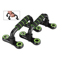 US Stock !1 Pair Fitness S- shaped Push- ups Pushup Stands Bra...