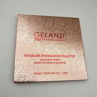 Mais novo GELANZI Pro Cosméticos 16 cores Matte Shimmer paleta de Sombra de Olho nova na caixa de transporte da gota olhos maquiagem