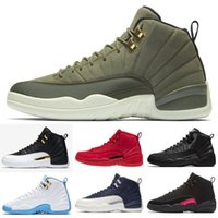 competitive price 128a2 5c2ed 12 12s Basketball shoes for mens Winterized black WNTR Gym red Flu game GAMMA  BLUE Taxi the master men Retro Sports Sneakers size 40-47