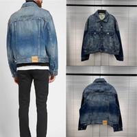 Yüksek kaliteli pusu ceketler ceket erkekler kadın 1: 1 moda rahat kaykay logosu düğmeleri pusu kot ceket T200502