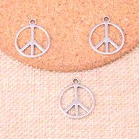 133pcs Charms Simbolo del segno di pace 21 * 17mm Antique Fabbricazione del pendente in forma, argento tibetano d'epoca, gioielli fatti a mano fai da te