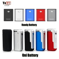 Authentische Yocan Handy 500mAh UNI 650mAh Box Mod Vorheizen VV Variable Voltage Magnetic 510 Batterie für dicke Ölpatronen Original