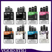 100% первоначально VGOD STIG Одноразовая опорожнить Pod Device 3шт 270mAh Батареи количество заготовленных в течение сезона консервов 1,2 мл картридж Vape Pen Kit против шикарного EON слоеного бар располагаемого