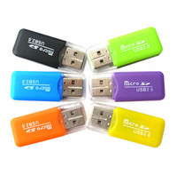 Mini haute vitesse Mini USB 2.0 T-Flash Memory Card Reader TF Card Reader Micro SD CardReader Adaptateur BigShuang