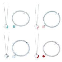 Original 100% 925 Sterling Silver Fashion Classic DIY Pulsera de amor DIY Set Multicolor opcional mujer joyería envío gratis