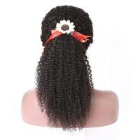 Kinky Curly Femmes Cordon Extension De Queue De Cheval Kinky Cheveux Bouclés Brésiliens Vierge Pince À Cheveux remy Cheveux Queue De Poney 120g 18 pouces