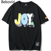 Männer T-Shirts BBOVIZI 2021 Männer Freude Druck Tshirts Mode Streetwear Hip Hop T-shirts Casual paar Kurzarm Tops T-Shirts Homme